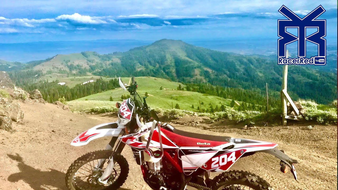 Beta 500 RR-S Motorcycle Ride to Tight Mountain Single Track (Beautiful Sturgill Peak!)