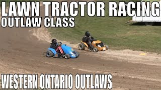 Outlaw Class Lawntractor Racing At Western Ontario Outlaws June 23 2019 2nd Round