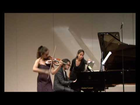 Alexandra Soumm and Aimo Pagin play Subito by Lutoslawsky