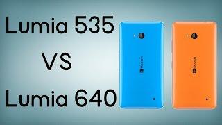 Lumia 535 vs Lumia 640 - Comparativa en español