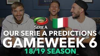 Midweek Serie A Tips - Gameweek 6 - 2018/2019