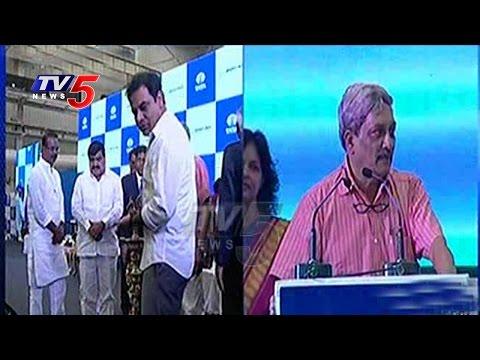TATA Boeing Inauguration In Hyderabad   KTR Speech   Manohar Parrikar Speech   TV5 News