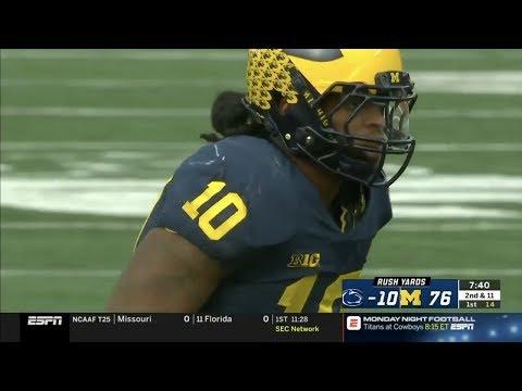 Devin Bush (Michigan LB #10) Vs. Penn State 2018