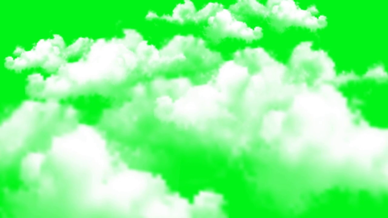 green background and clouds moving animation video