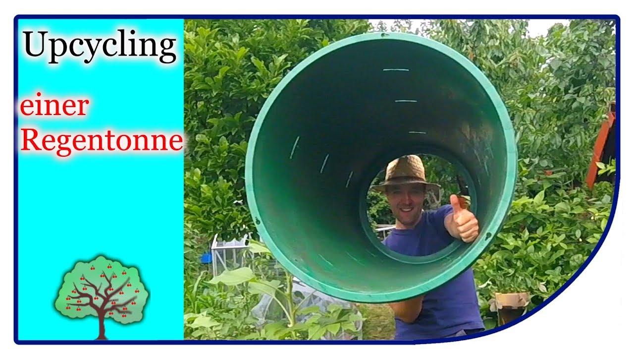 upcycling regenfass | wassertone zu einem komposter - youtube