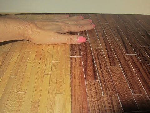 Dollhouse Hardwood Floor 2 Inexpensive Options Youtube