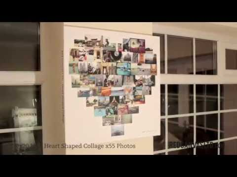 Heart Shaped Collage On Canvas By Red Canvas Ltd Youtube