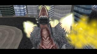 (Blender 3D) Godzilla Vs SpaceGodzilla