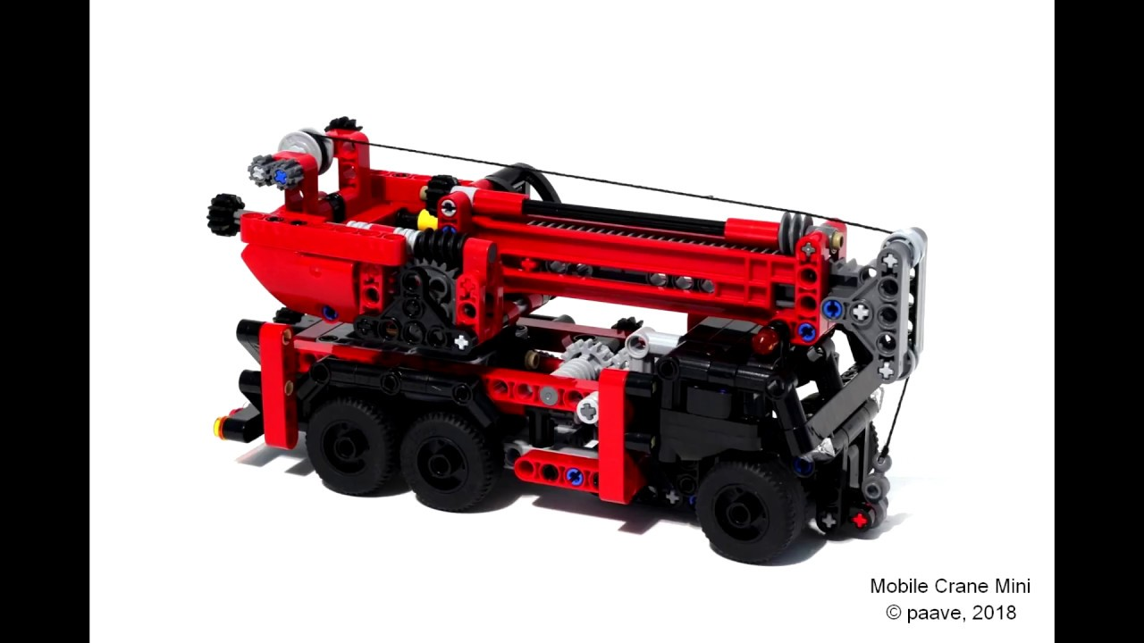 Lego Technic Building Instructions Mobile Crane Mini Youtube