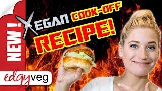 Vegan Recipe: Squash Burgers -vegan Cook Off Challenge | The Edgy Veg