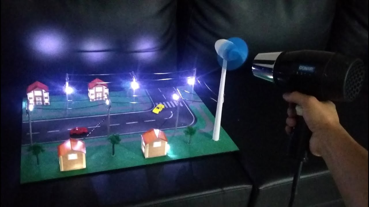 Maqueta energ a e lica youtube - Generadores de electricidad ...