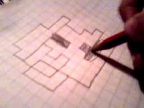 Como dibujar a mario en pixel - YouTube