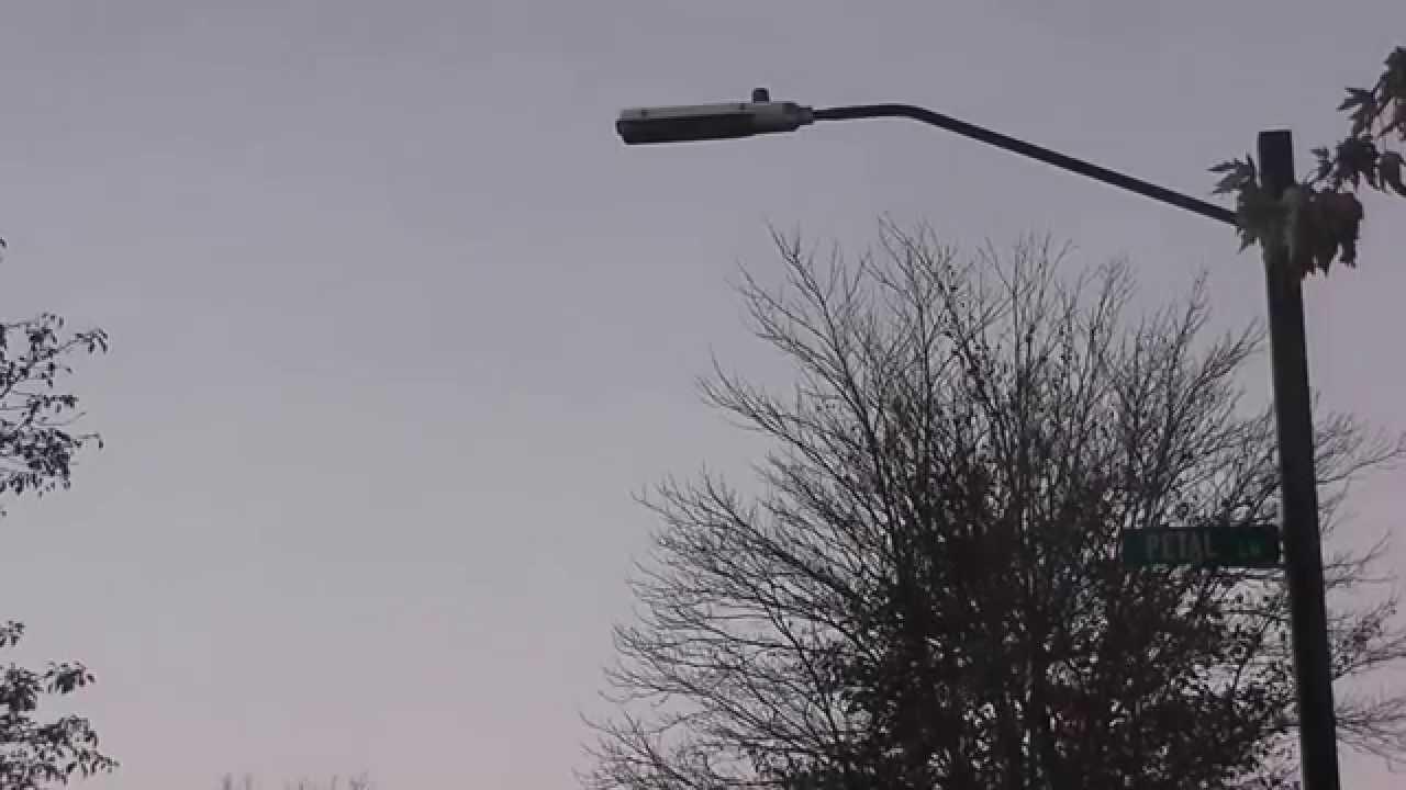 Low Pressure Sodium Street Light In Hicksville New York State