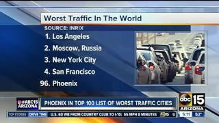 Where does Phoenix rank in terms of traffic?