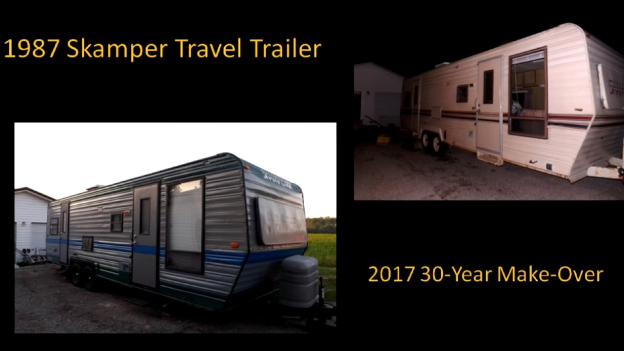 1987 skamper travel trailer remodel project