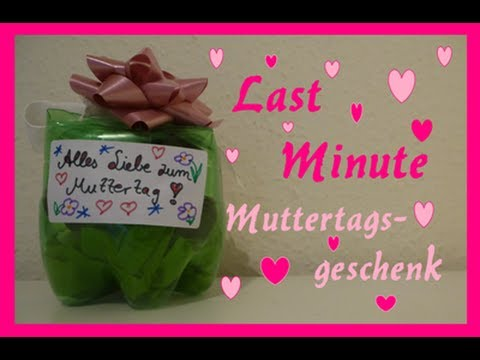 Diy last minute muttertagsgeschenk youtube for Last minute warnemunde