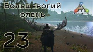 ARK Survival Evolved (The Island, одиночка) #23 Большерогий олень