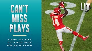 Sammy Watkins Gets Wide Open for 28-Yd Catch | Super Bowl LIV