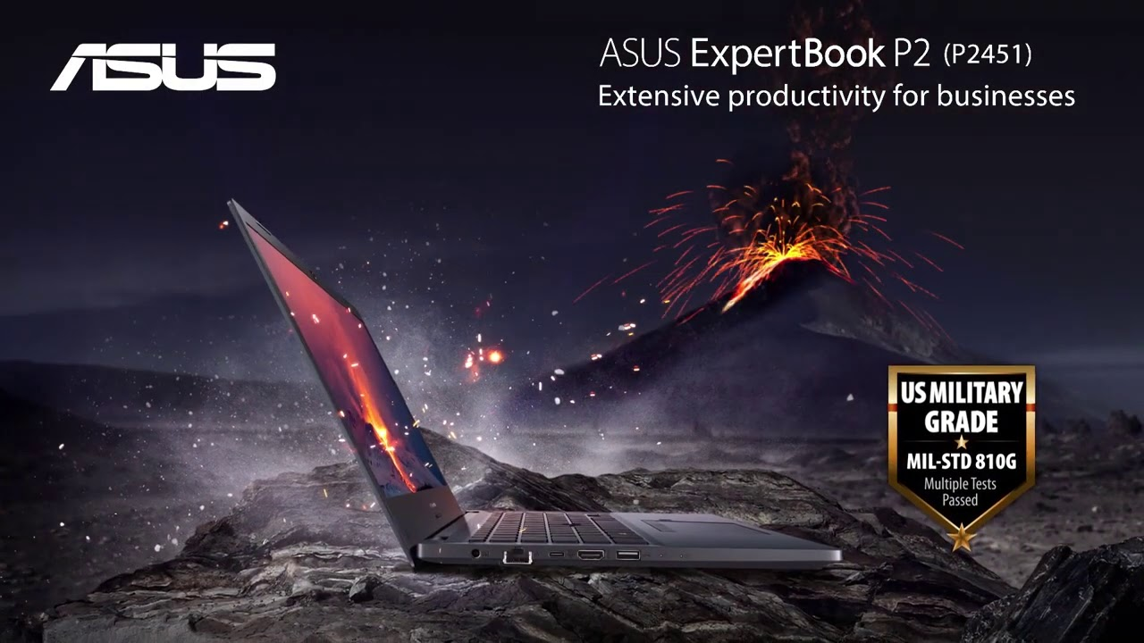 ASUS ExpertBook P2451 - YouTube