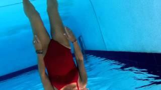 upside down underwater in the pool may 2014
