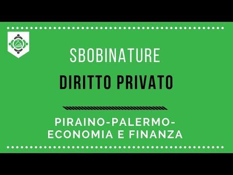 Sbobinature diritto privato Piraino Economia e finanza Palermo