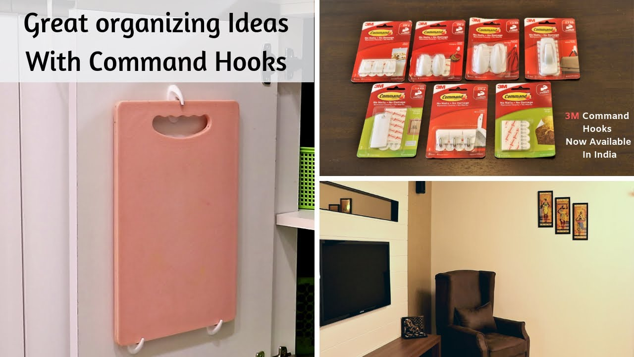 Great Organizing Ideas With Command Hooks | 3M Command Hooks Hacks & Uses