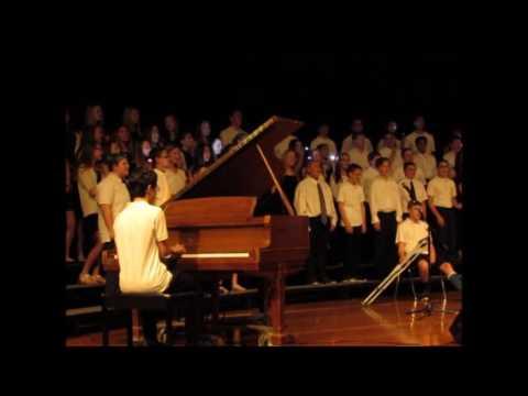 Flashlight, Agawam Junior High School 8th Grade Chorus, featuring Mason Wesley on piano