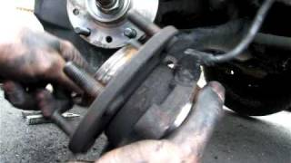2001 Chevy Blazer bad front hub bearing, replacement instructions in text
