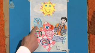 Amity Livingstone got her drawing shown on Giggle and Hoot