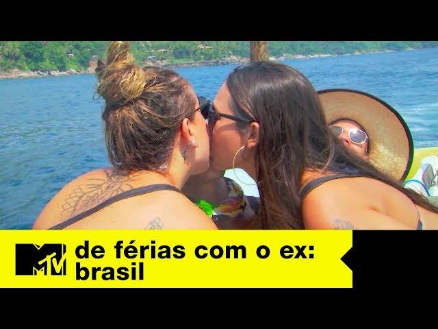 Festa em barco tem beijo triplo de Matheus, Fábia e Bifão | De Férias Com O Ex Brasil Ep. 12