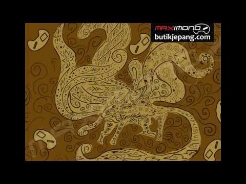 Batik Anime Pertama di Indonesia Batik Corak Kyubi