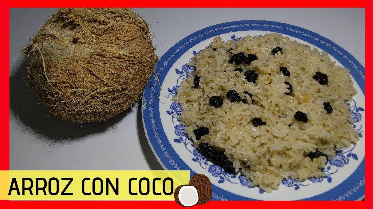 como hacer arroz de coco con uvas pasas/arroz de coco ...