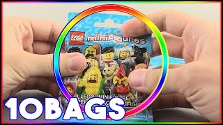 NEW LEGO Minifigures Wave! Opening 10 Blind Bags!