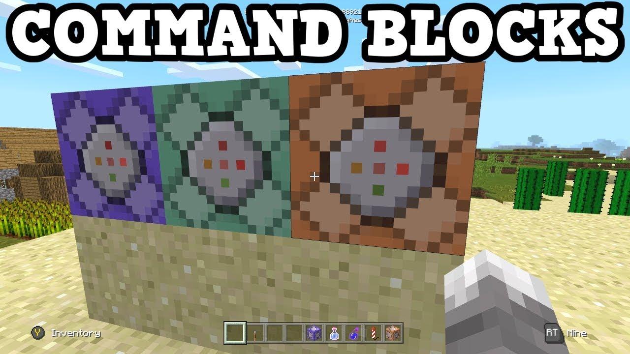 Minecraft Xbox One - All 3 Command Block TUTORIAL