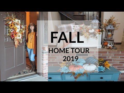 COZY FALL HOME TOUR 2019🍂FALL DECORATING IDEAS🍁FARMHOUSE DECOR🍂FALL DECOR🍁WHOLE HOME TOUR