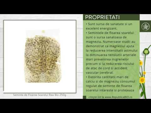 Seminte de Floarea Soarelui Raw Bio 250g