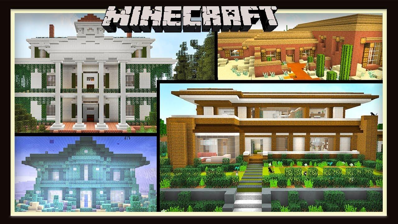 6 Unique Minecraft House Designs Youtube