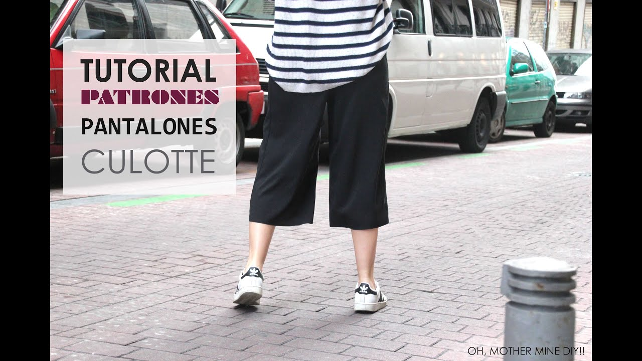 DIY Tutorial de Pantalon Culotte (Patrones gratis) - YouTube