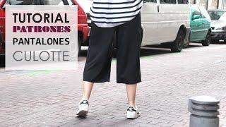 DIY Tutorial de Pantalon Culotte (Patrones gratis)