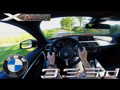 BMW 3 series 2017 335d Xdrive Touring POV Test Drive Acceleration & Interior Sound