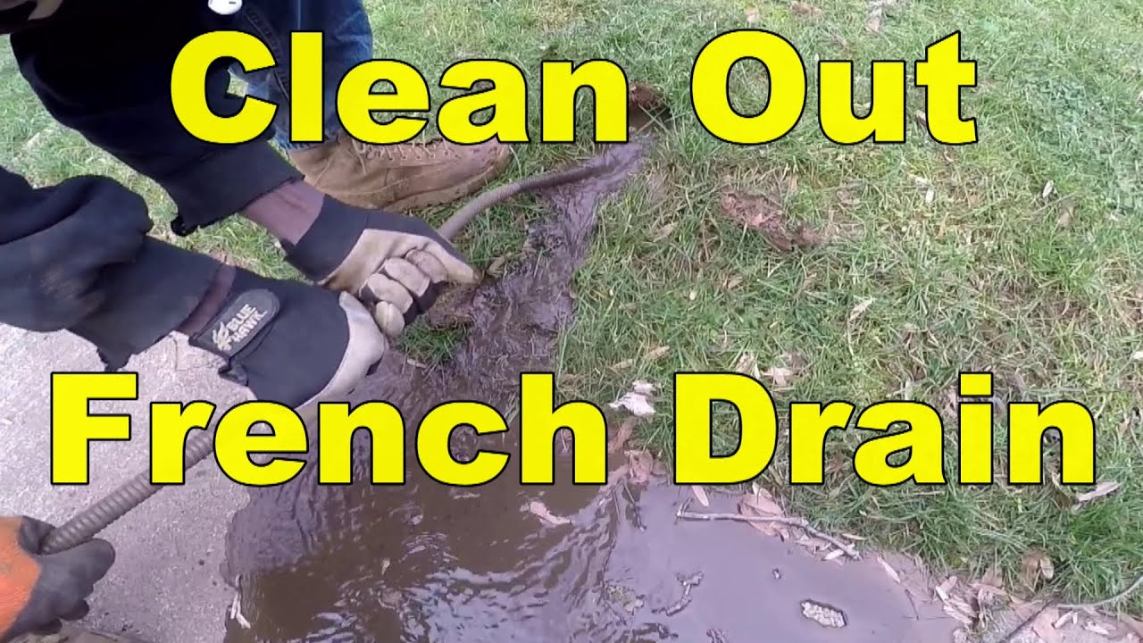How To Snake And Clean Out A French Drain Youtube