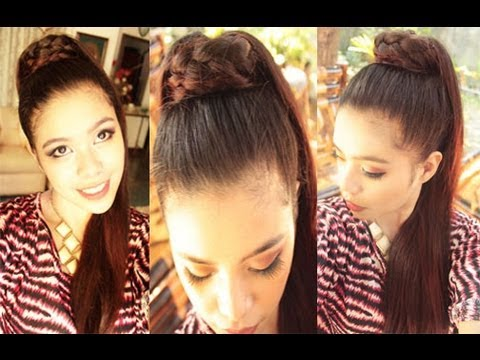 Kim Kardashian Inspired Braided High Ponytail Simplified