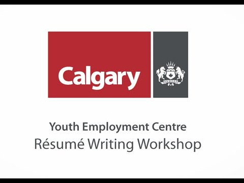 Resume Writing Workshop Youth Employment Centre Youtube