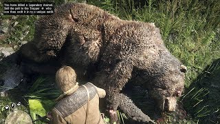 Red Dead Redemption 2 How To Easily Kill the Legendary Bear PS4 Pro