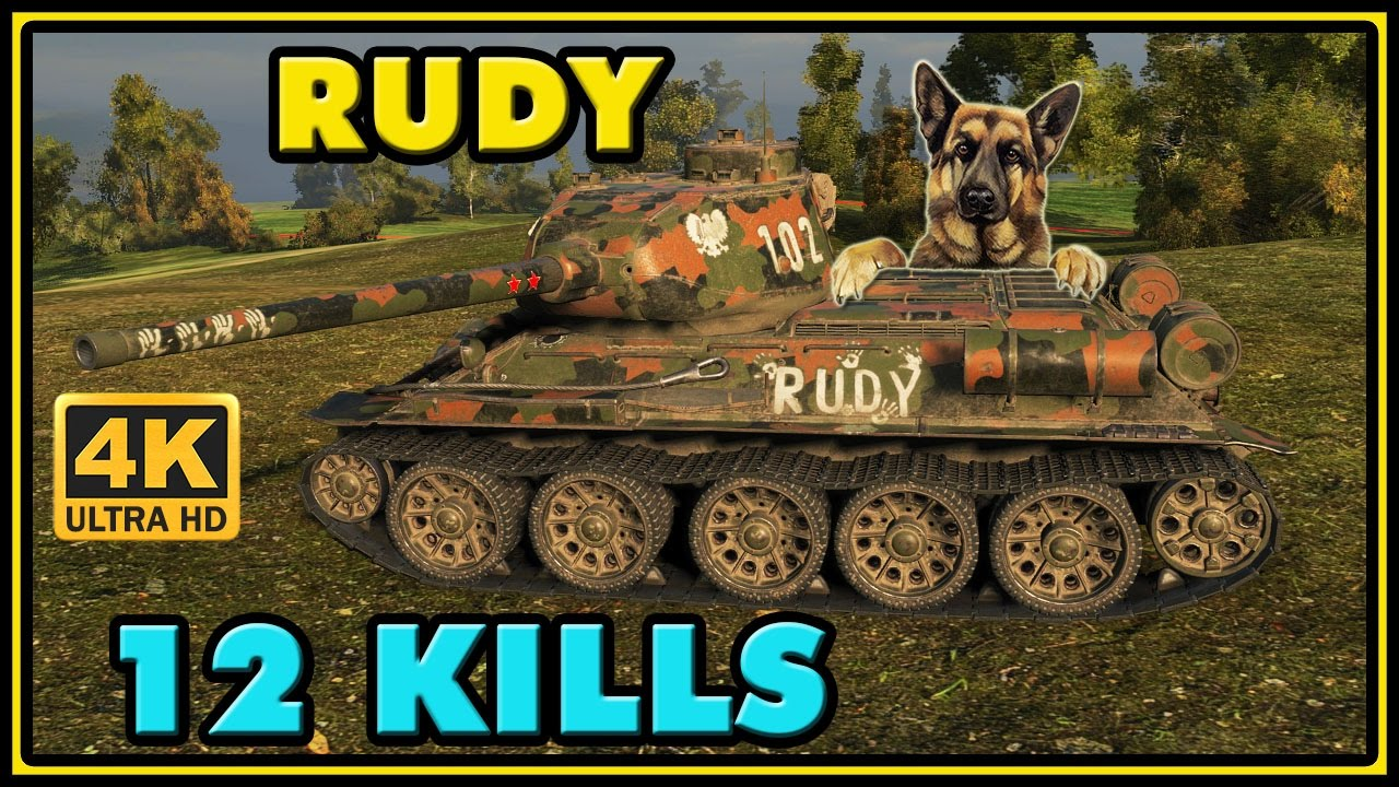 """Рыжий (польск. """"rudy"""") — танк т-34-85, на котором сражались главные герои романа януша пшимановского «четыре танкиста и собака» и."""