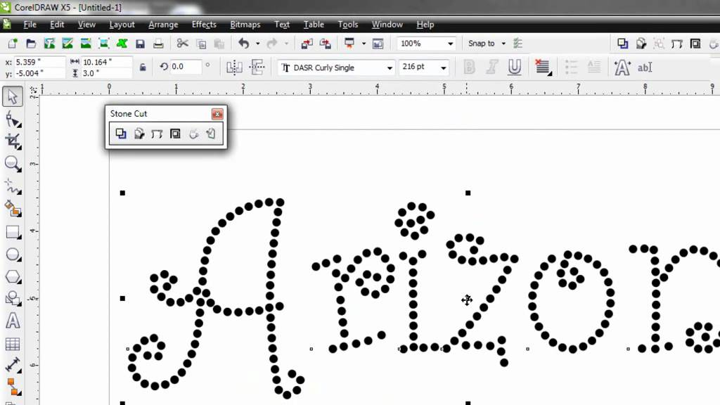 Rhinestone Fonts: Editing in CorelDRAW