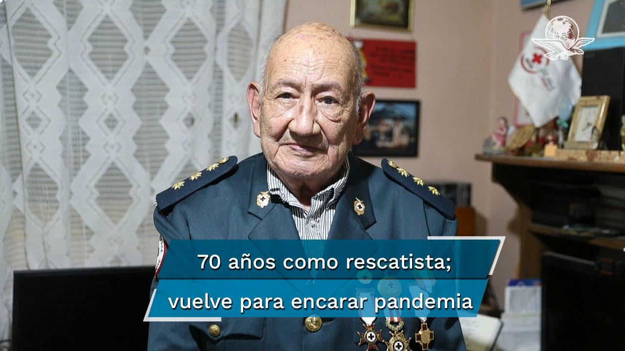 Veterano con 70 años en la Cruz Roja  redacta guía de ayuda