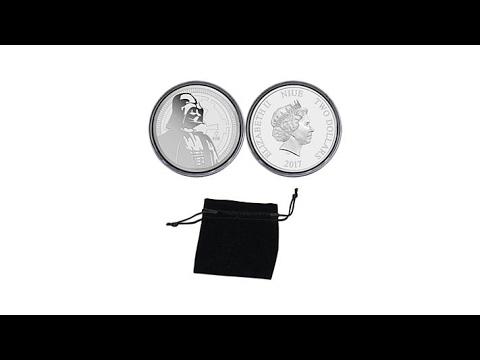 """2017 Star Wars """"Darth Vader"""" Niue $2 Silver Coin"""