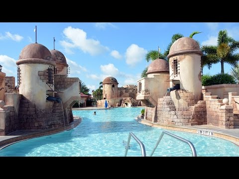 Disney's Caribbean Beach Resort Feature Pool Tour - Fuentes del Morro, Walt Disney World