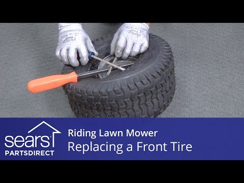 replacing-a-front-tire-on-a-riding-lawn-mower
